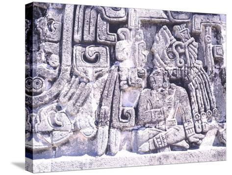 Pyramid of Snakes in Xochicalco--Stretched Canvas Print