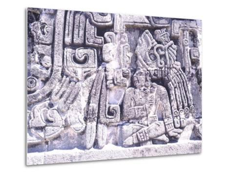 Pyramid of Snakes in Xochicalco--Metal Print