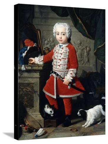 Portrait of a Young Boy in Hungarian Dress-Pierre Subleyras-Stretched Canvas Print