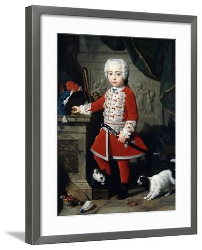 Portrait of a Young Boy in Hungarian Dress-Pierre Subleyras-Framed Art Print