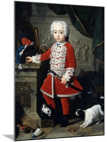 Portrait of a Young Boy in Hungarian Dress-Pierre Subleyras-Mounted Giclee Print