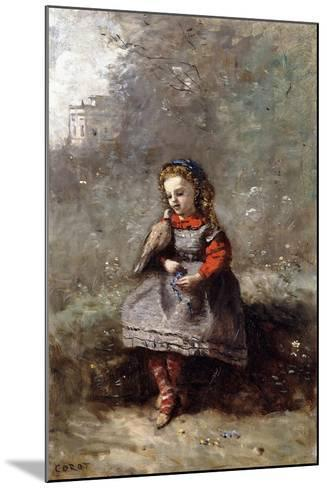 Mlle. Leotine Desavary Holding a Dove, 1872-Jean-Baptiste-Camille Corot-Mounted Giclee Print