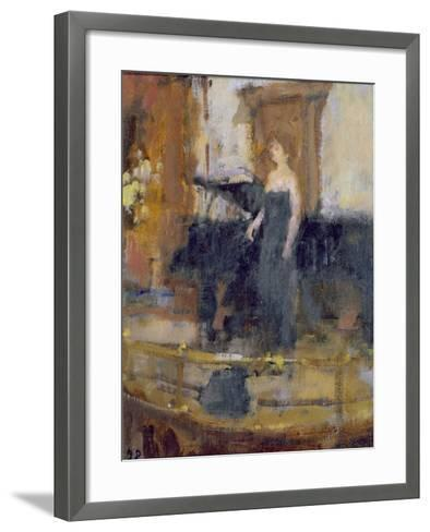 Alice Coote at the Wigmore Hall-Bernard Dunstan-Framed Art Print