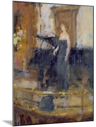 Alice Coote at the Wigmore Hall-Bernard Dunstan-Mounted Giclee Print
