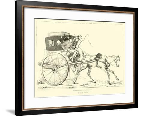 On the Road to Saint Cloud--Framed Art Print