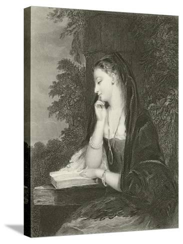 Maiden Meditation-Gilbert Stuart Newton-Stretched Canvas Print