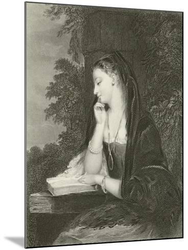 Maiden Meditation-Gilbert Stuart Newton-Mounted Giclee Print