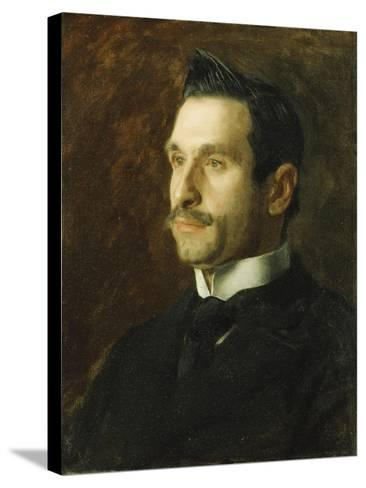 Portrait of Francesco Romano, 1904-Thomas Cowperthwait Eakins-Stretched Canvas Print