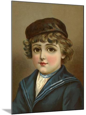 Boy, with Large Brown Eyes, in Sailor Suit--Mounted Giclee Print