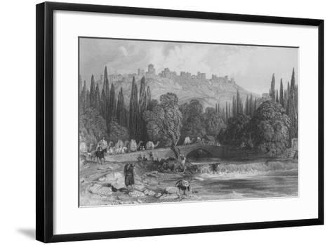 The Castle of Smyrna, Asia Minor-Thomas Allom-Framed Art Print