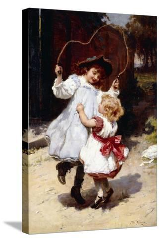 Skipping, C.1896-Frederick Morgan-Stretched Canvas Print