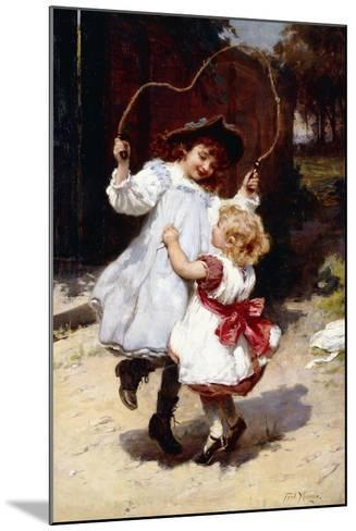Skipping, C.1896-Frederick Morgan-Mounted Giclee Print