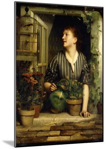 Morning Glories, 1874-Emile Levy-Mounted Giclee Print