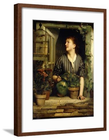 Morning Glories, 1874-Emile Levy-Framed Art Print