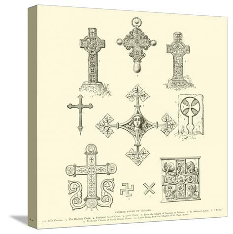 Various Forms of Crosses--Stretched Canvas Print