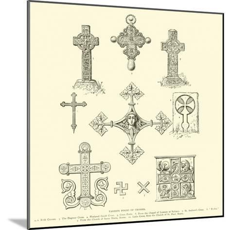 Various Forms of Crosses--Mounted Giclee Print
