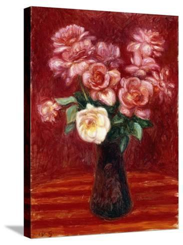 Pink Roses-William James Glackens-Stretched Canvas Print