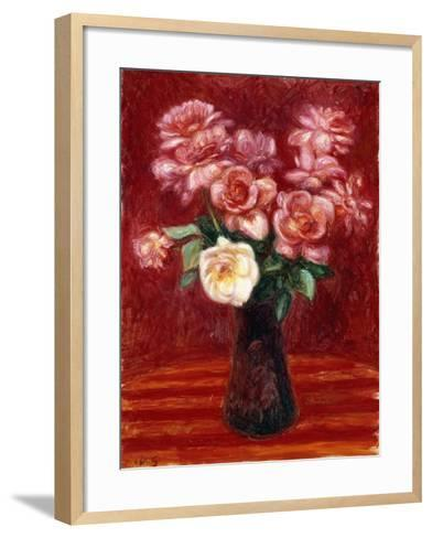 Pink Roses-William James Glackens-Framed Art Print