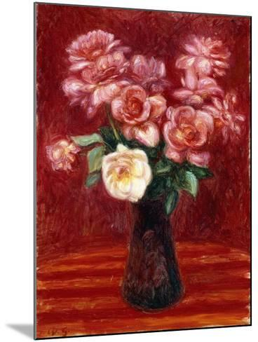 Pink Roses-William James Glackens-Mounted Giclee Print