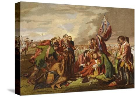 Death of Wolfe-Benjamin West-Stretched Canvas Print
