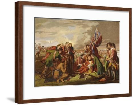 Death of Wolfe-Benjamin West-Framed Art Print