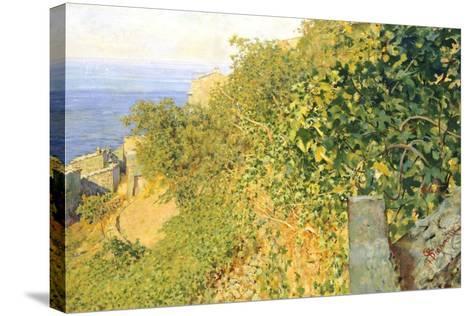 On Island of Elba-Telemaco Signorini-Stretched Canvas Print