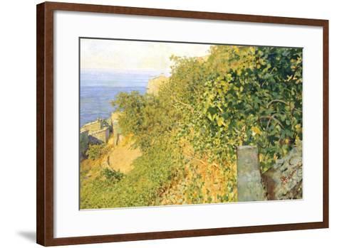On Island of Elba-Telemaco Signorini-Framed Art Print