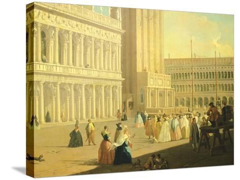 The Piazzetta, Venice-Luca Carlevarijs-Stretched Canvas Print