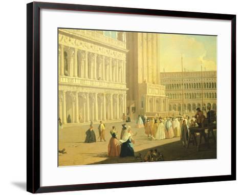 The Piazzetta, Venice-Luca Carlevarijs-Framed Art Print