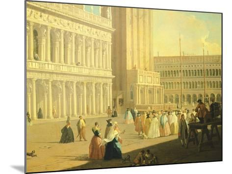 The Piazzetta, Venice-Luca Carlevarijs-Mounted Giclee Print