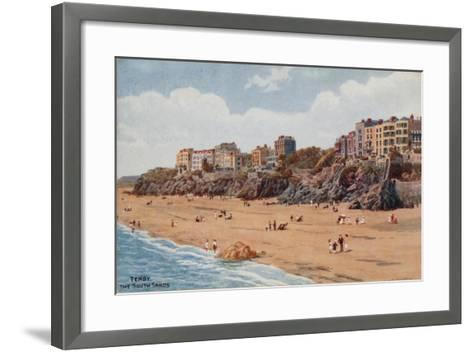 Tenby, the South Sands-Alfred Robert Quinton-Framed Art Print