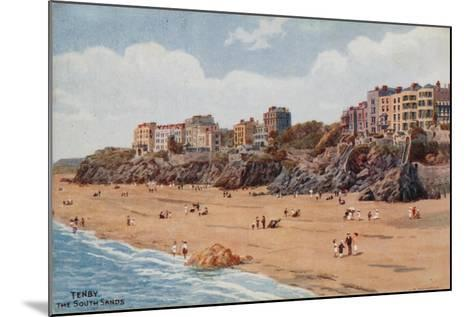 Tenby, the South Sands-Alfred Robert Quinton-Mounted Giclee Print