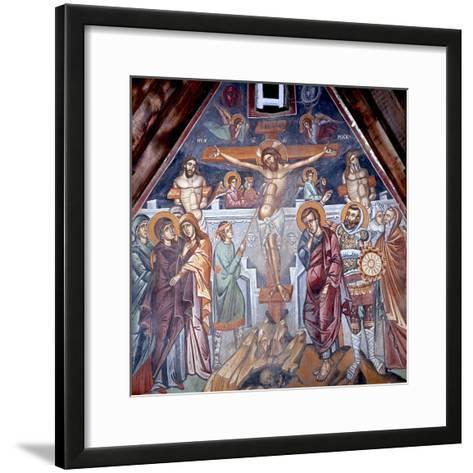 Crucifixion, Cretan School--Framed Art Print
