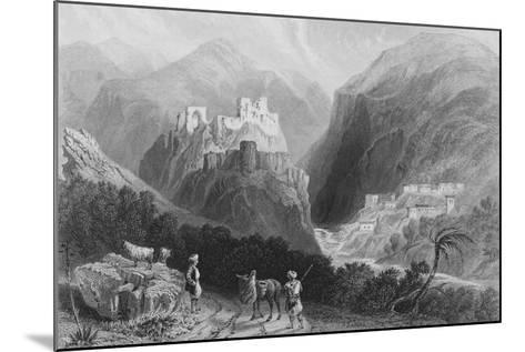 Castle in Mount Amana, Near the Khan Karamont-William Henry Bartlett-Mounted Giclee Print