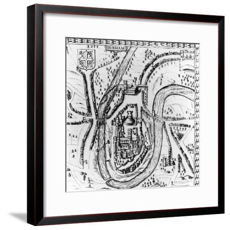 Map of the City of Durham, 17th Century--Framed Art Print