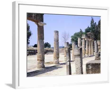 The Sanctuary of Artemis in Brauron--Framed Art Print