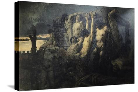 Hostages of Crema-Gaetano Previati-Stretched Canvas Print