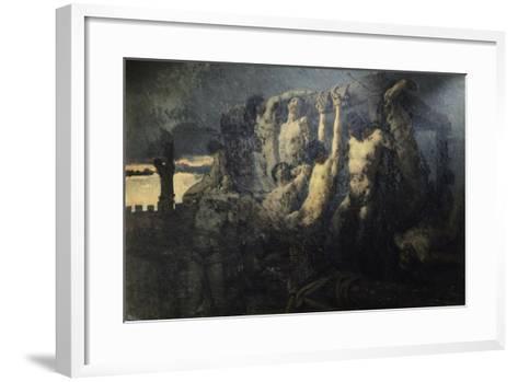 Hostages of Crema-Gaetano Previati-Framed Art Print