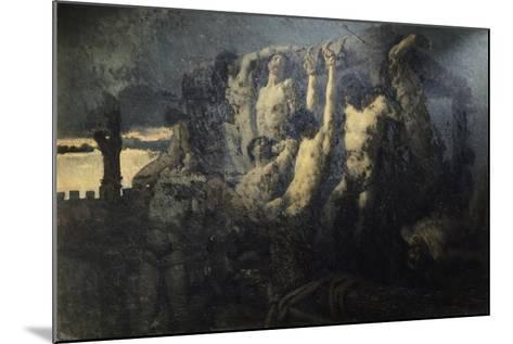 Hostages of Crema-Gaetano Previati-Mounted Giclee Print