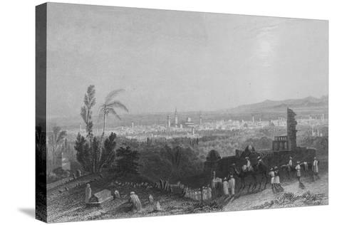 Damascus, from Above Salahyeh-William Henry Bartlett-Stretched Canvas Print