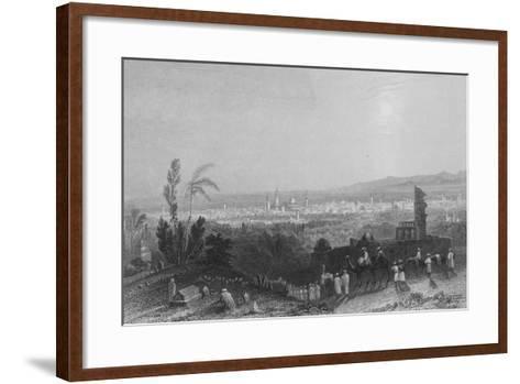 Damascus, from Above Salahyeh-William Henry Bartlett-Framed Art Print