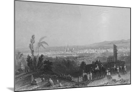 Damascus, from Above Salahyeh-William Henry Bartlett-Mounted Giclee Print