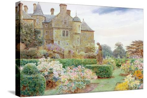 The Rose Garden, Balcaskie-George Samuel Elgood-Stretched Canvas Print