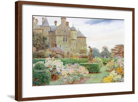 The Rose Garden, Balcaskie-George Samuel Elgood-Framed Art Print