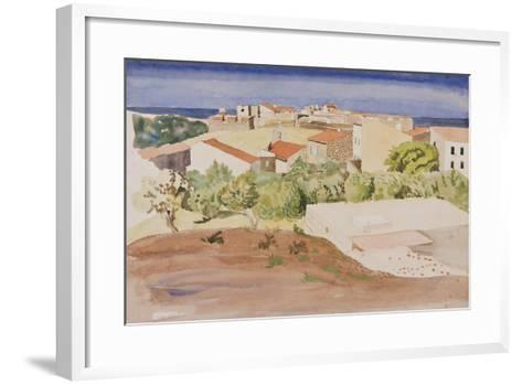 The Roofs of Collioure, C.1925-Rudolph Ihlee-Framed Art Print
