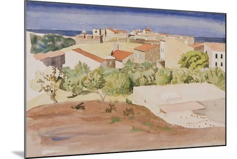 The Roofs of Collioure, C.1925-Rudolph Ihlee-Mounted Giclee Print