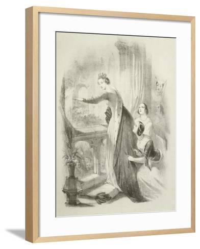 The Heroine of the Savoy-Joseph Nash-Framed Art Print