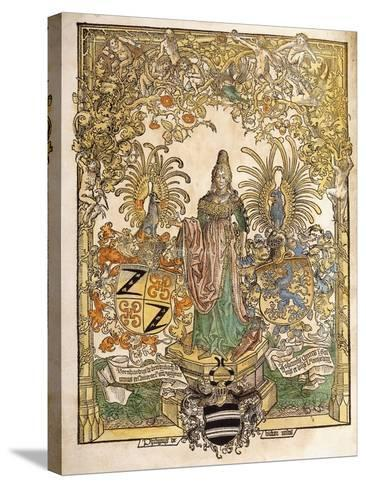 Allegorical Figure of Mainz, 1486--Stretched Canvas Print