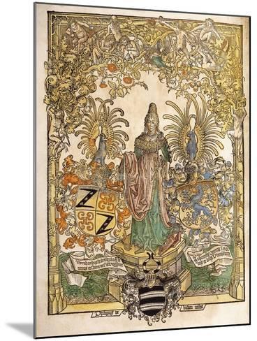 Allegorical Figure of Mainz, 1486--Mounted Giclee Print