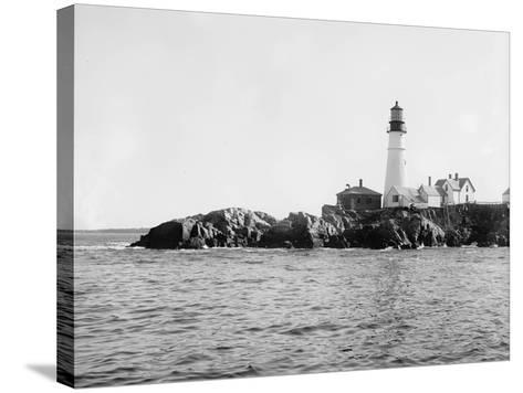 Portland Head Light, Portland, Maine, C.1900-10--Stretched Canvas Print